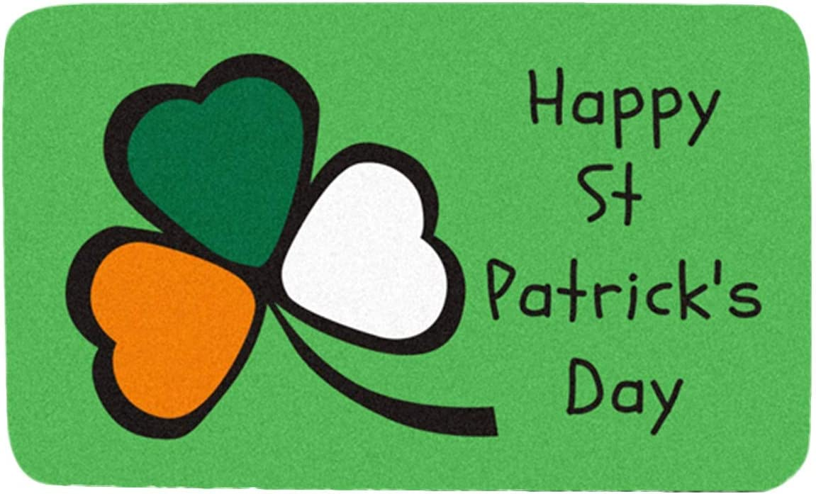 Kexle St. Patrick's Day Chicago Mall Decorations S National uniform free shipping Green Doormat Clover Lucky