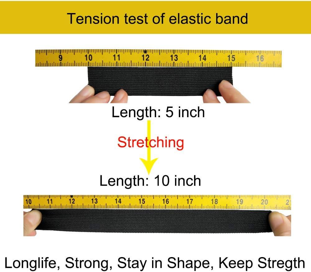 BZVlemon Elastic Sewing Bands 11 Yards 1 Inch Flatback White Knit Elastic Spool Heavy Strenth High Elasticity Knit Elastic Band for Sewing