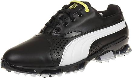 9a5c1224ca6ef Puma Titantour Men Golfschuhe Golf Schwarz Leather 188056 01