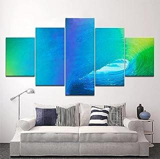 SINGLEAART Impressions sur Toile,5 Tableau Peinture,Décoration Maison Moderne,Modulaire Panneaux Motif Tableau,Cadeau d'an...