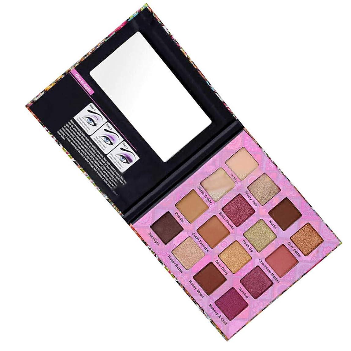 あたたかいイブニング上流の16色のきらめきのきらめきのアイシャドウの粉のマットのアイシャドウの化粧品の構造