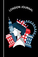 London Journal: Queen Elizabeth II London Eye Big Ben & Red Phone Box | Black Diary & Writing Notebook | Daily Diaries for Journalists & Writers | Use ... Taking | Write about your Life & Interests