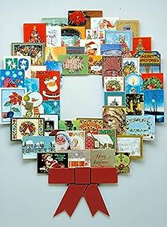 "JUMBL™ Christmas Decoration Wonder Wreath Jumbo (44"" X 36"") Card & Photo Display Holder. For Home, Work, Schools, Party. G..."