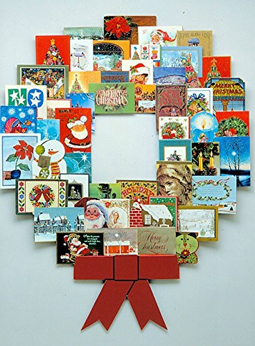 JUMBL™ Christmas Decoration Wonder Wreath Jumbo (44' X 36') Card & Photo Display Holder. for Home, Work, Schools, Party. Great Way to Go Down Memory Lane.