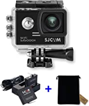 SJCAM WiFi Underwater Camera Diving Action Cam with High-end Chips and Sensors,Sports Camcorder with Dual Charger, Extra Battery, Bag (SJ5000X-Elite +Charger+Battery+Bag, Black)