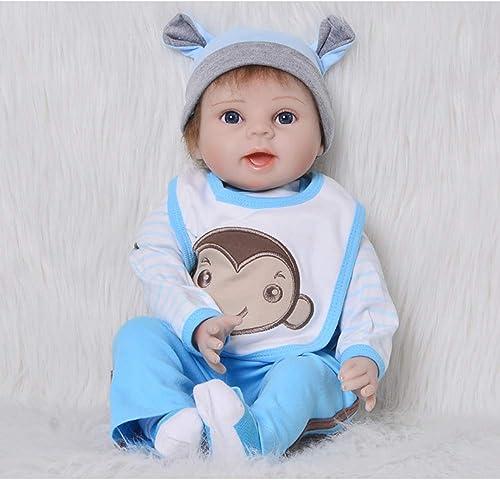 SYpÃlebensecht Reborn Toddler Baby Puppe Junge 55cm 22 Zoll Silikon Vinyl mädchen Spielzeug Geschenk Augen auf Dolls