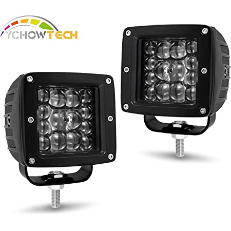 """Details about  /4x 24W LED Work Light Square Cube 3x3/"""" Pods Spot with RGB Halo Color Change Kit"""