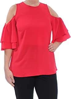 LACE-UP T-Shirt True, RED, Large