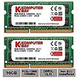 Title: Komputerbay 16GB 1600MHz ノートPC用メモリ 1.35V (低電圧) - 1.5V 両対応 204Pin DDR3L 1600 PC3L-12800 8GB×2枚 永久保証