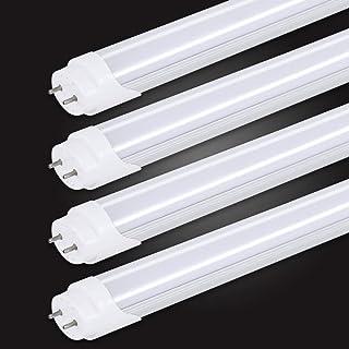 led蛍光灯 40w形 直管 蛍光灯 led 蛍光管 グロー式工事不要 高輝度2000lm 昼光色(6000K-6500K) 120cm 1198mm G13 t8 40W型 【4本入り】