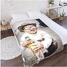 Fotodecke Selber Gestalten,Personalisierte Flanell Mikrofaser Fleecedecke 3D Kinder Wohndecke Decke Couchdecke Sofadecke Bett/überwurf Flauschige Weiche/& Warme Sofa Fotodecke