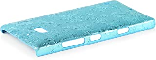 iCues   Compatible with Nokia Lumia 930   Chrome Flower Case Light Blue   [Screen Protector Included] Floral Cover Crystal...
