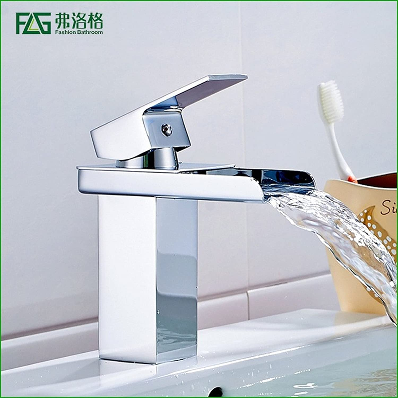 AOEIY Wasserhahn Küchen Mischbatterie Volle Verkupferung Wasserfall Wasser Single Single Hole hei und kalt Waschtischarmaturen Mixer Spültisch Armatur Bad Spülbecken badezimmer Küchenarmatur