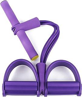 YTASA Corde De Tension Multifonctionnelle,4 Tube Jambe Exerciseur Pull Cordes Bandes Yoga Fitness Pied P/édale Pull Cordes Sit-up Bodybuilding Expander,pour Gym /à Domicile.