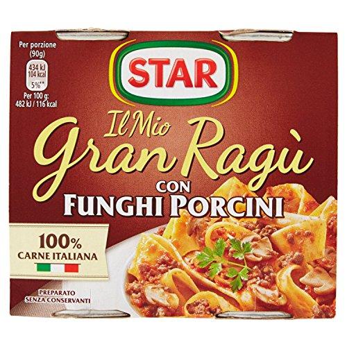 Star Gran Ragu' con Funghi Porcini, 2 x 180g