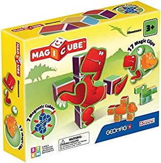 Geomag 141 Magicube Dinosaurs - Magnetic Construction Cubes