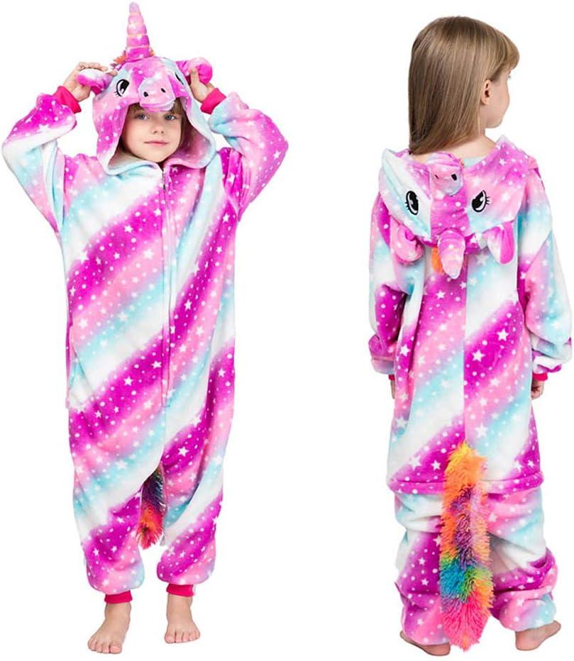 MMTX Pijamas Animal para Niñas Niños, Pijamas de Unicornio Pijamas Enteros de Animales con Capucha, Halloween Navidad Regalos para Niñas y ...