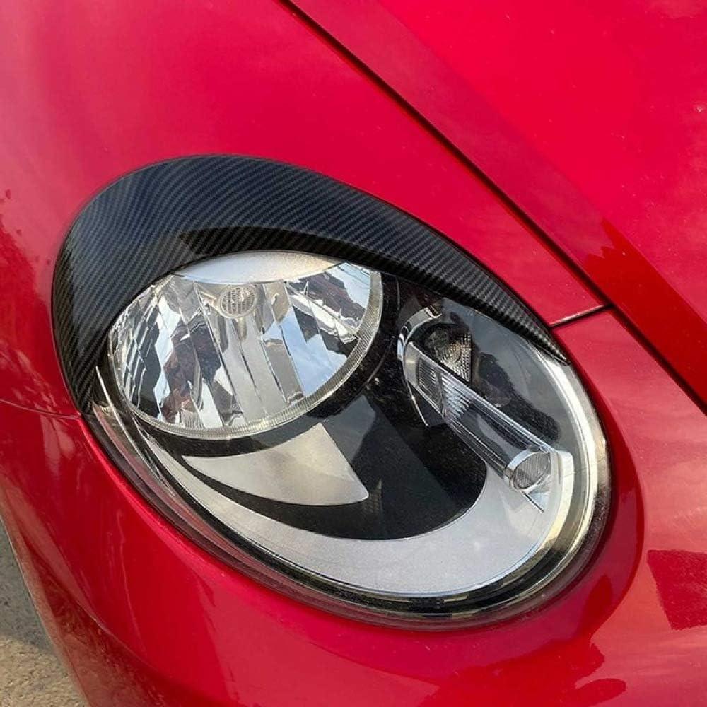 KJHDKJFH 1 Paar Auto Scheinwerfer Augenbrauen Abdeckung Trim Decal Dekor Scheinwerfer Augenbrauen Carbon Fiber schwarz Aufkleber./F/ür VW K/äfer 2012-2018