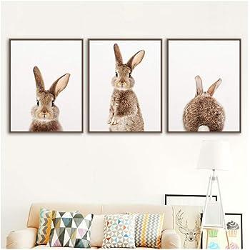 ZDFDC Lion z/èbre /él/éphant Girafe b/éb/é Animal Art Affiche Safari Animaux Photo Toile Peinture Enfants Chambre p/épini/ère d/écoration murale-21X30Cmx6Pcs sans Cadre