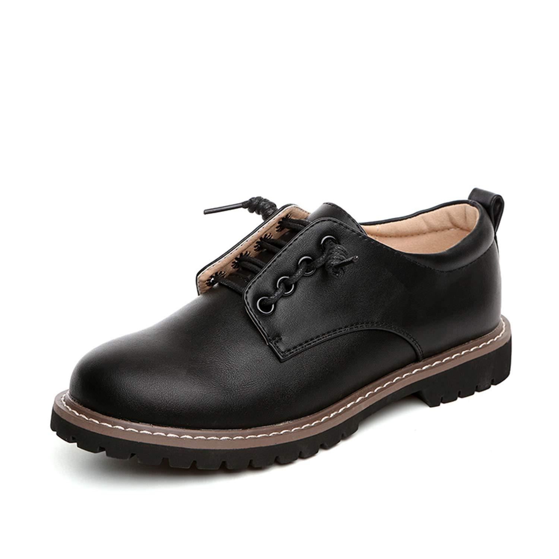 [Bornran] レディース マーチンシューズ ワークブーツ エンジニアブーツ オックスフォードシューズ レディース ブーツ 韓国風 通学靴 カジュアル ジュニア レースアップ