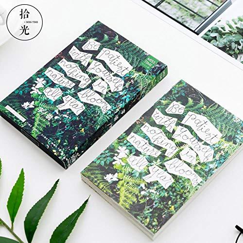 Yoin 30 Blatt/Set Retro Plant Language Word Postkarte/Grußkarte/Wish Card/Weihnachten und Neujahr Geschenke
