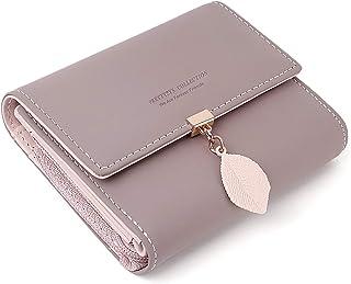 Geldbeutel Damen aus glattem und weichem Kunstleder Portemonnaie Damen klein und im Kurzformat Geldbörse Damen in sehr sch...