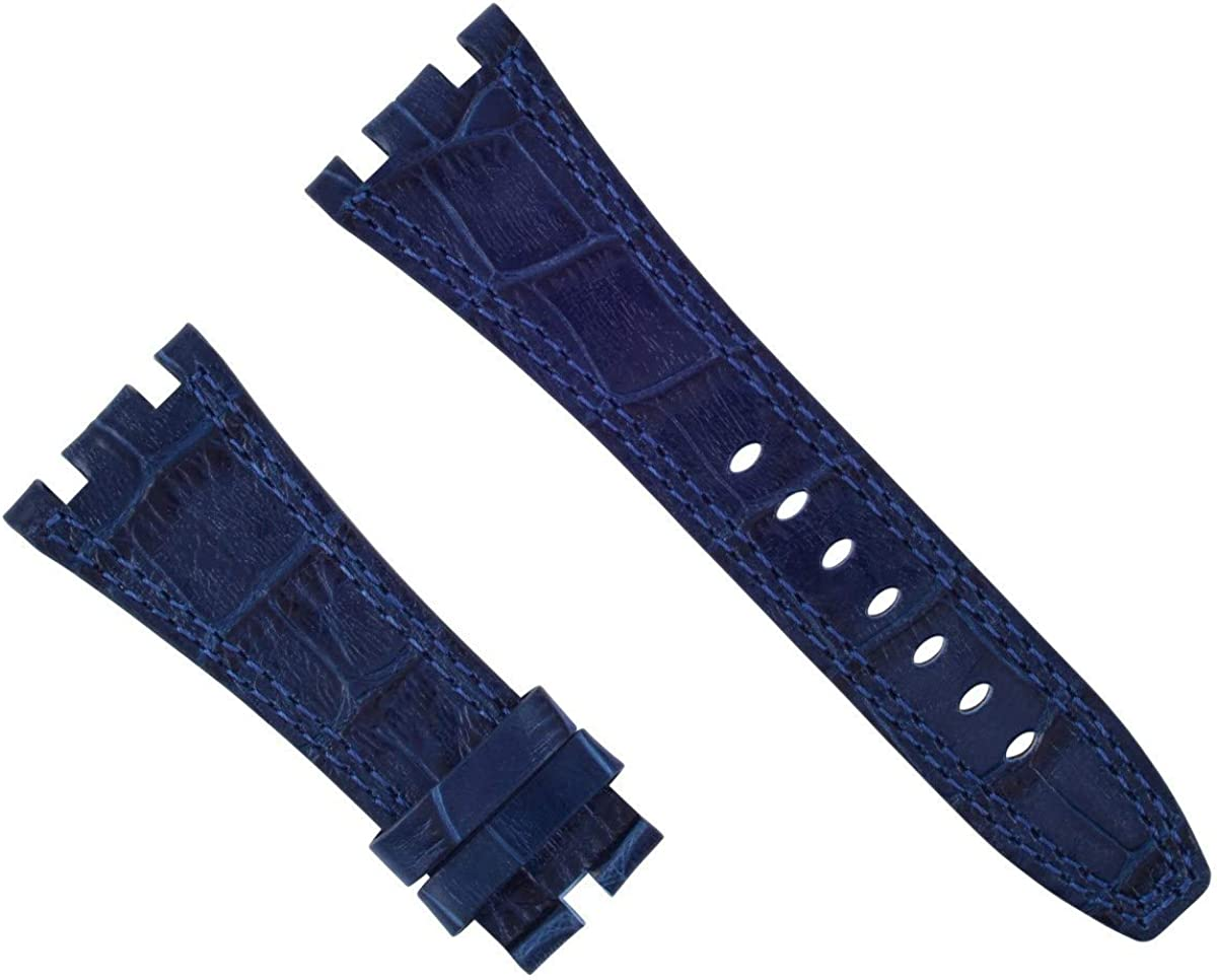 28mm Leather Free shipping on posting reviews Band Strap Compatible Indefinitely 42mm Piguet with Audemars Roy