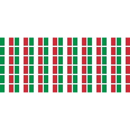 Mini Aufkleber Set Pack Glatt 20x12mm Sticker Fahne Italien Flagge Banner Standarte Fürs Auto Büro Zu Hause Und Die Schule 54 Stück Bürobedarf Schreibwaren