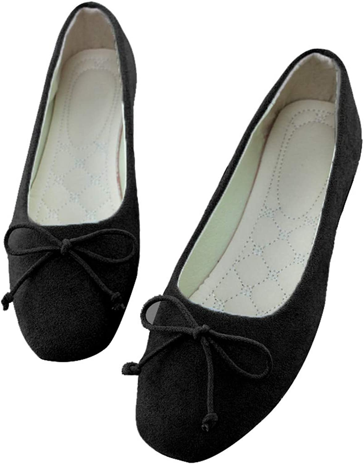 Kyle Walsh Pa Women Flats Square Toe Silp on Flat shoes Bow Ballet Flats Female shoes Ladies shoes