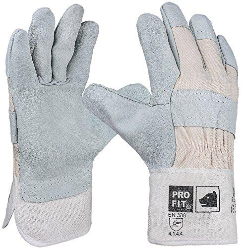 PRO FIT 12 Paar - Rindspaltleder-Handschuh,