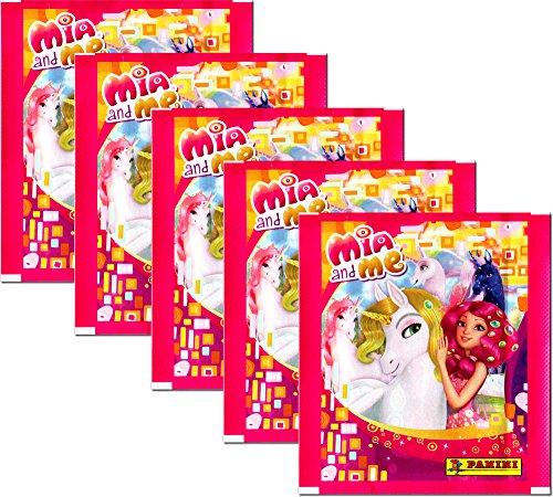 Mia and Me Panini 2015 - Sammelsticker 5 Booster Packungen 25 Sticker - Deutsche Ausgabe