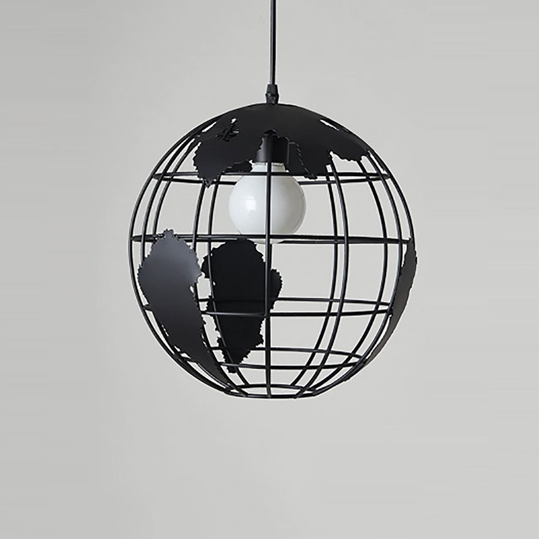 QFFL 1 lumières Creative Iron Art lustre style européen Restaurant Bar salon lampes (couleur  noir, blanc) Lustre vintage (Couleur   NOIR)