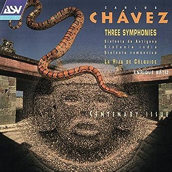 Chavez: 3 Symphonies; La Hija De Colquide