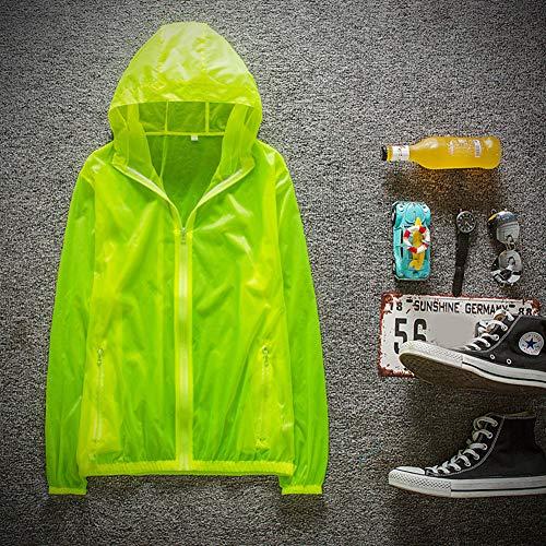 ETbotu Sportswear für Paare, schnelltrocknend, atmungsaktiv, UV-beständig, verschleißfest, Sonnenschutz, Mantel mit Kapuze, Outdoor-Sportwear XXXX-Large grün