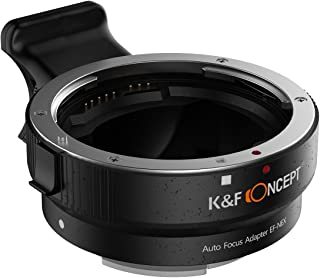 K&F Concept® オートフォーカスマウントアダプター Canon EFレンズ-Sony NEX Eマウントカメラ対応 絞り制御・フルフレーム 電子接点付きマウント変換アダプター 高品質 2年保証