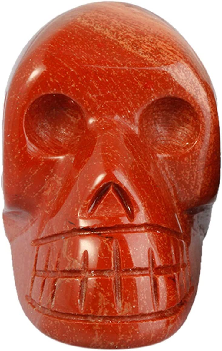 mookaitedecor 1.5 Inch Hand Max 49% OFF Direct stock discount Carved Gemst Crystal Skull Sculpture