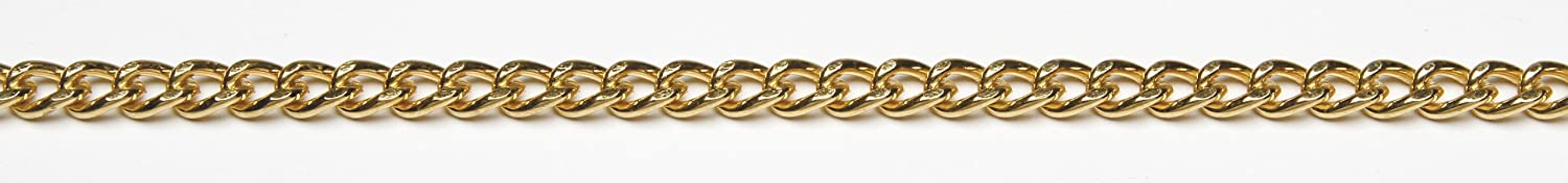 Darice 1999-3684 4mm Curb Chain - gold Plated Steel, gold, 42 , 1ct