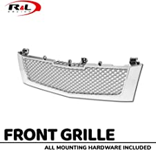 R&L Racing Chrome for Cadillac Escalade 02-06 Front Grille Luxury Mesh Hood Bumper Grill