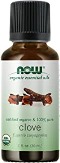 NOW Essential Oils, Organic Clove Oil, Balancing Aromatherapy Scent, Steam Distilled, 100% Pure, Vegan, Child Resistant Ca...