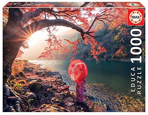 Educa - Amanecer en el Río Katsura, Japón Puzle, 1 000 Piezas, Multicolor (18455)