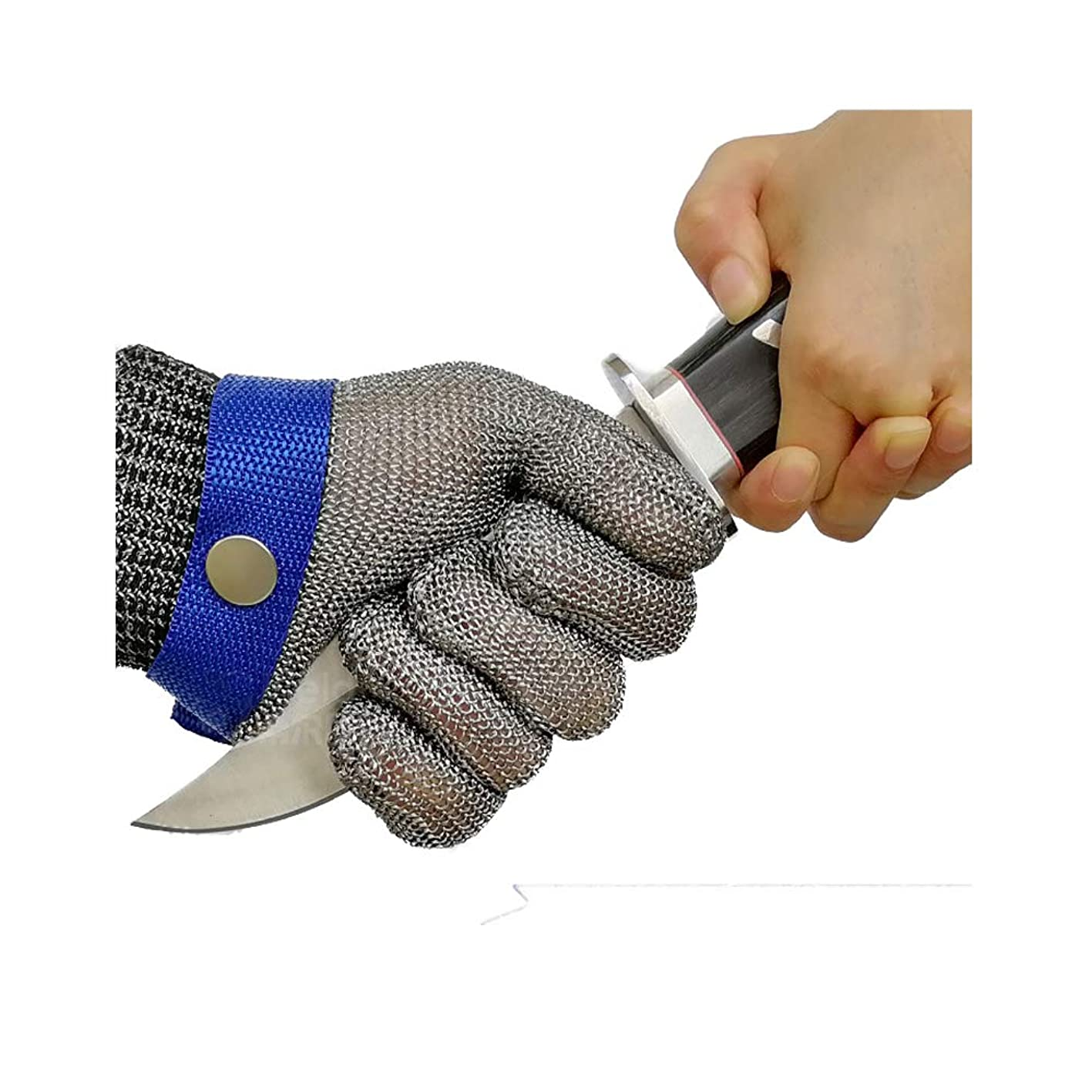 Schwer Cut Resistant Gloves-Stainless Steel Wire Metal Mesh Butcher Safety Work Glove for Meat Cutting, fishing (Large) ofqzfcrmtqk765