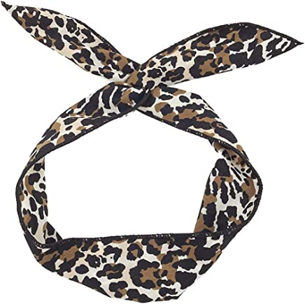 Stoff Kreuz Boho Leopard Frauen Haarband Twist Knot Elastic Turban Stirnband