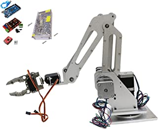 Flameer 3 Axis Assembled Robotic Arm Kit with Gripper Clamp Motor MG-996R Servo for 3D Printer