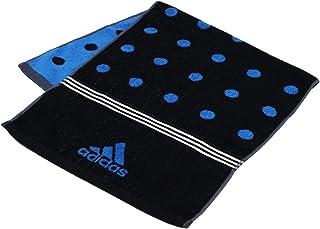 タオル美術館 【30%OFF】 adidas アディダス ディファレンス フェイスタオル ドット ブラック 06-3602100 約34×75cm