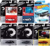 Thunderball 007 Mustang James Bond Screen Time Bundled with Lightning Lotus Esprit S1 + Diamonds Mach 1 + Toyota Live Twice + Aston Martin Die Another Day & Vantage Iconic Movie Cars 6 Items