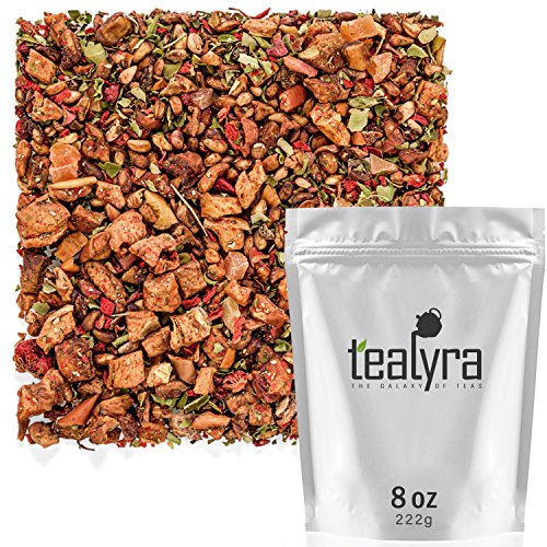 Tealyra - Pomegranate Raspberry - Fruity Herabl Loose Leaf Tea - Vitamins and Antioxidants Rich - Hot and Iced Tea - All Natural - Caffeine-Free - 222g (8-ounce)