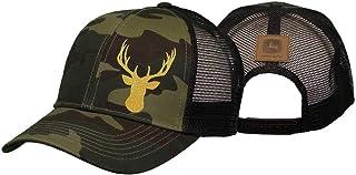 قبعة John Deere 6 ألواح مموهة من نسيج قطني مضلع وشبكة مموهة-Os