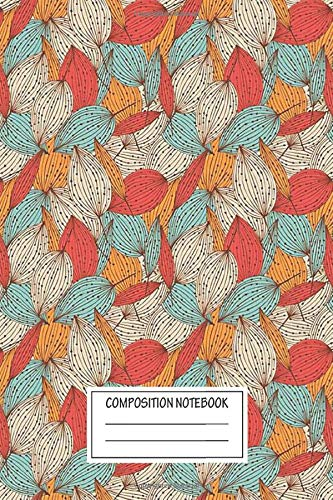 Notebook: Romantic Leaves , Journal for Writing, Size 6' x 9', 164 Pages