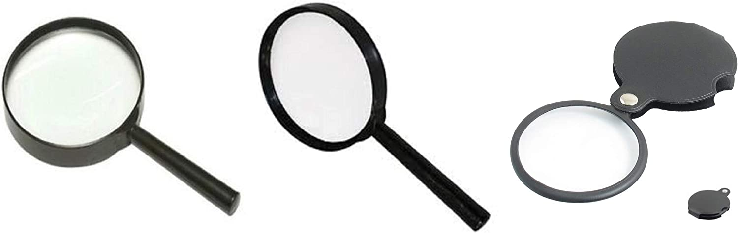 3 Pc. Fashion Magnifying Glass with Metal - Direct sale of manufacturer Print Frame Small To Reading