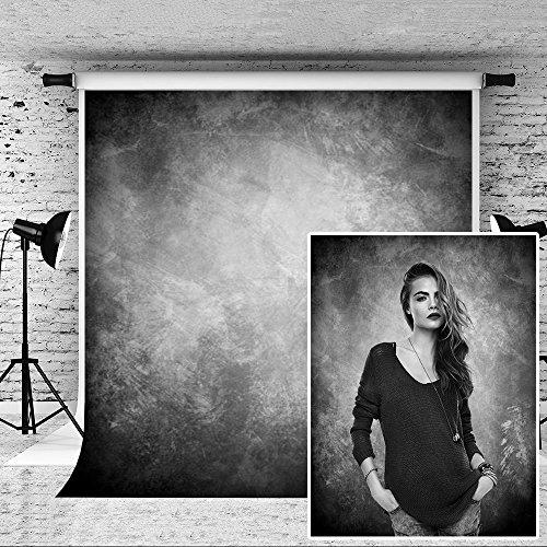 KateHome PHOTOSTUDIOS 1,5x2,2m Grau Fotografie Hintergrund Portrait Fotohintergrund Mikrofaser Klappbar Hintergrund Fotostudio Requisiten